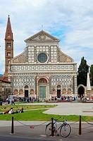 Florence, Santa Maria Novella Church, Santa Maria Novella square, Piazza Santa Maria Novella, Tuscany  Italy  Europe.