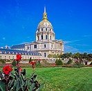 'Eglise du Dôme' church of 'Hôtel des Invalides' and garden, Paris, France