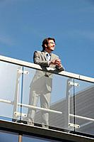 Businessman standing on walkway