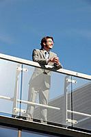 Businessman standing on walkway