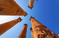 Columns at the Temple of Artemis at Gerasa, Jerash, Jordan