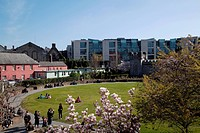 the circular gardens by dublin castle, dublin ireland