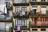 windows and balconnies in Porto, Portugal