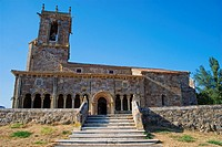 Romanesque Church of San Julian and Santa Basilisa (12th Century). Rebolledo de la Torre. Burgos Province. Castilla y Leon. Spain