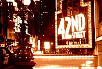 Times Square 42nd Street Sepia