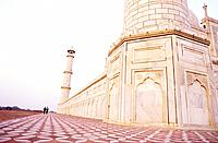 Western side of the marble base surrounding Taj Mahal, Agra, India
