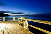 View from the historic pier, Baltic resort Sellin, Baltic sea, Ruegen island, Mecklenburg_Western Pomerania, Germany, Europe