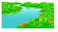 water, nature, natural phenomena, scene, flower, scenery, river
