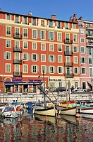 harbour of Nice, Alpes-Maritimes department, Provence-Alpes-Cote d'Azur region, southeast of France, Europe