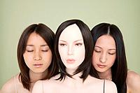 Two japanese women with a mannequin