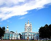 Smolny Cathedral in Saint_Petersburg