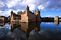 Moated Castle Chateau La Clayette, La Clayette, Burgundy, France