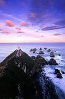 Lighthouse at Nugget Point, The Catlins, South Island, New Zealand