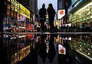 Times Square at hight, Manhatan, New York City, New York, USA, North America, America