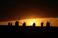 Windmills in Campo de Criptana, la Mancha, Spain
