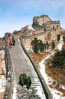 The Great Wall of China in winter