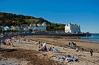 The seaside resort of Llandudno, Conwy, Wales, UK