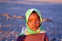 Africa, Namibia, girl wearing headscarf