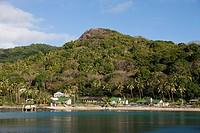 Village on Makogai Island, Lomaviti, Fiji