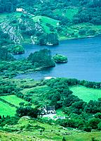 Ireland, Kerry, houses in Killarney National Park