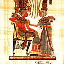 Historical painting on papyrus