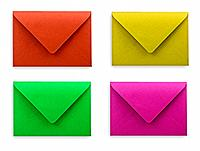envelopes white background clipping path