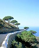 Coastal road at the Costa Del Sol in Spain