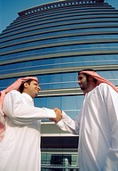 Arab men shaking hands