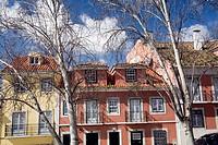 Colorful houses, Alfama, Lisbon, Portugal