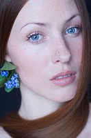 beauty woman with forget_me_nots