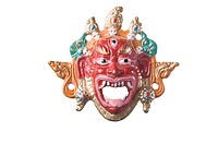 Sri Lankan colourful mask of human face PR776A