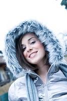 portrait of a woman in winter jacket