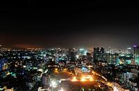 aerial view of prabhadevi , Bombay Mumbai , Maharashtra , India