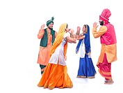 Dancers performing folk dance bhangra MR779F,779D,779E,779B