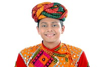 Rajasthani man in traditional attire MR782W