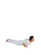 Girl practicing bhujang asana MR779J