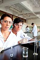 Portrait of science students working in a laboratory