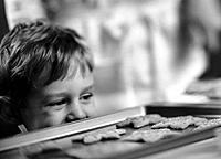 Boy Eyeing Cookies