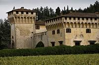 villa medicea di cafaggiolo, castello di cafaggiolo, barberino di mugello, mugello, toscana, italia
