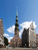 Riga City, Old Town , San Peter´s Church.