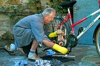 bike under repair, Austria
