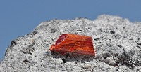realgar crystal on matrix