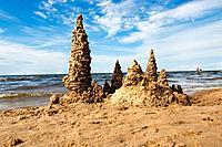 Sand castle at the beach
