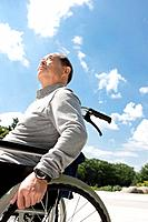 Mature Man in Wheelchair