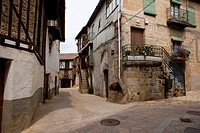 Sequeros, typical village of the Sierra de Francia, Salamanca. Castilla y Leon. Spain. Europe.