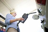 Young Woman Filling Up Gas Tank