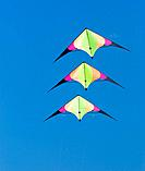 Three stunt kites