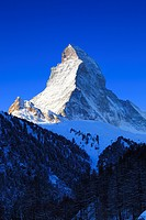 Matterhorn _ 4478 m in morning light, Switzerland, Valais, Zermatt