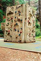 Climbing wall on a park