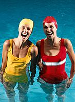 Two Women in Swimmimg Pool